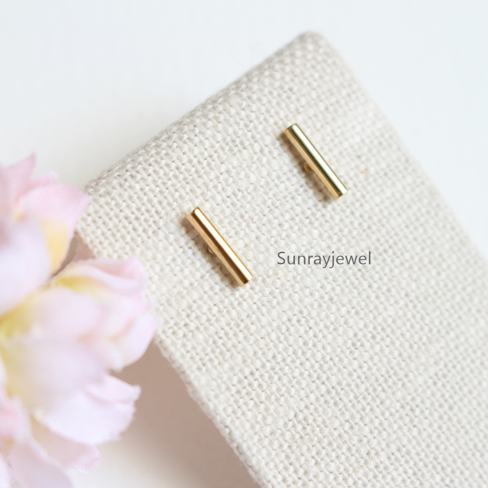 bar pin gold stud earring and satomi store diamond kawakita general shop earrings